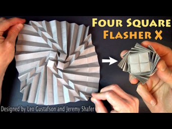 Origami Four Square Flasher X