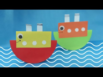 How To Make A Simple Cartoon Boat | Easy Paper Boat Making Tutorial for Beginners