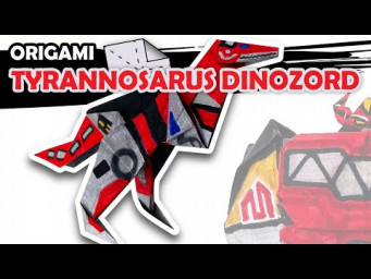 How to make a Tyrannosarus Dinozord Origami Transformer