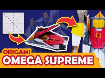 How to make a Transforming Autobot OMEGA SUPREME Origami Transformer - TANK