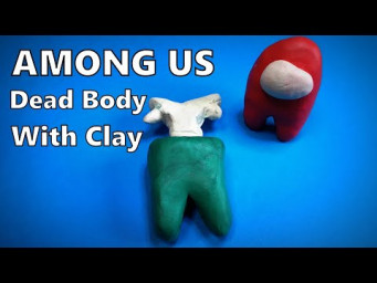 How to Make Dead Body AMONG US 3D with Clay DIY | Mr. Easy Origami ART