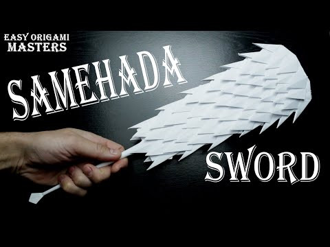 Samehada sword from Naruto. Design by - (Easy Origami Masters)
