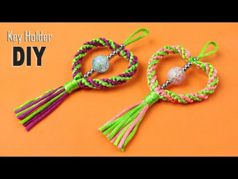 Super Easy Paracord Lanyard Keychain | How to make a Paracord Key Chain Handmade DIY Tutorial #36