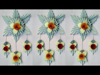 How to make a paper flowers - Paper art wall hanging  home decorations  - Paper craft