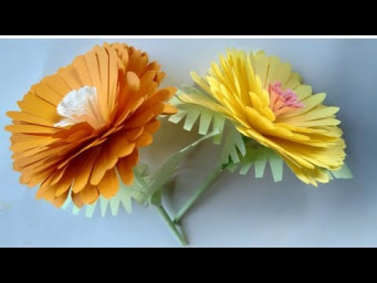 How to make a paper flowers - simple paper flowers design and paper crafts