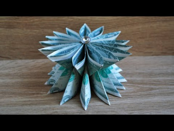 My MONEY FLOWER VASE | Easy Modular Dollar Origami | Birthday Gift | Tutorial DIY by NProkuda
