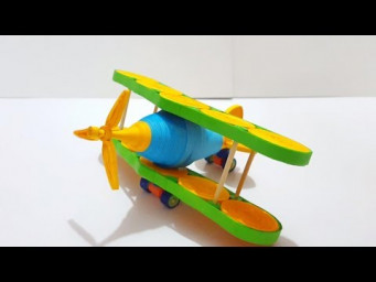 Paper Quilled Aero plane / airplane quilling / Quilled Fokker plane