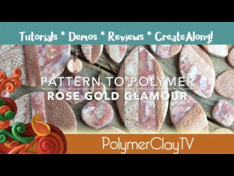 Create Glamorous Rose Gold Jewelry with Polymer Clay