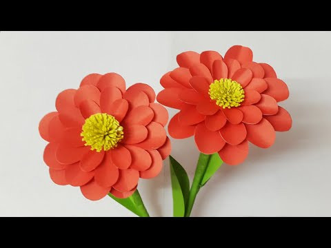 DIY Beautiful Paper Flowers Instruction | Paper Craft | Home Decor with Paper