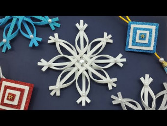 Christmas Decoration ⭐ 3D Snowflake Star Glitter Foam ⭐ DIY Christmas Ornaments
