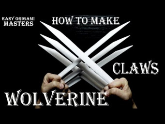 How to make Wolverine claws out of paper. (Easy Origami - Masters)
