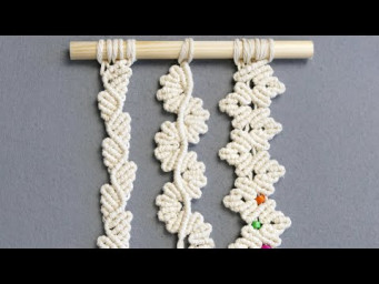 3 FLORAL MACRAME LEAF PATTERNS FOR MICRO & MACRO MACRAMÉ
