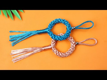 Super Easy Paracord Lanyard Keychain | How to make a Paracord Key Chain Handmade DIY Tutorial #34