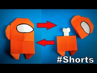Origami AMONG US Dead Body | How to Make a AMONG US with Papers | Easy Origami ART #Shorts
