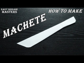 How to make a machete out of paper. Origami machete