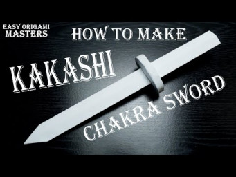 How to make a young Kakashi chakra sword out of paper