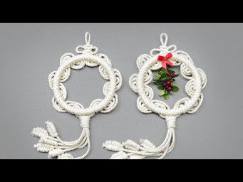 ROUND AND WAVY MACRAMÉ ORNAMENTS NEW DESIGN TUTORIAL
