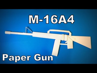 Origami Gun | How to Make a Paper M16A4 Gun DIY | Easy Origami ART Paper Crafts