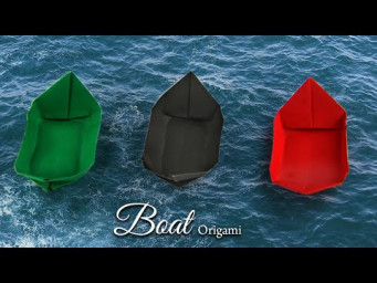 How to Make a Origami Paper Boat Step by Step Tutorial | DIY Easy origami for Beginners