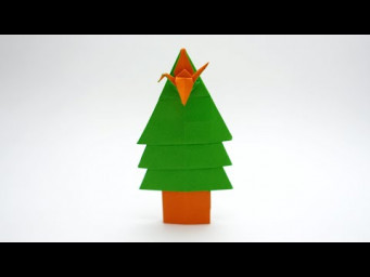 ONE SHEET ORIGAMI TREE v3 (Jo Nakashima) - Christmas Tree