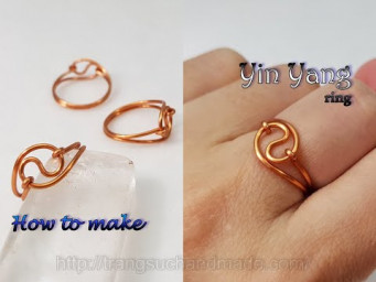 Simple Yin Yang ring - How to make jewelry from copper wire 540