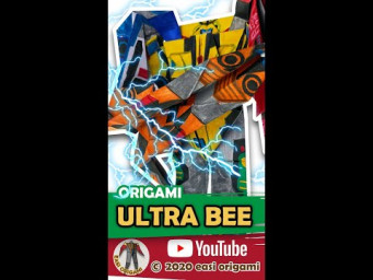 AUTOBOT ULTRA BEE Paper Craft #shorts