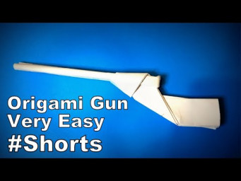 Origami Gun Easy | How to Make a Paper Gun/ Pistol/ Rifle | Easy Origami ART Paper Crafts #Shorts