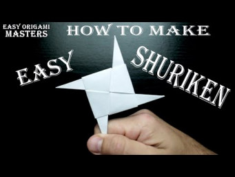 How to make an easy shuriken from paper