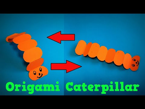 Origami Caterpillar | How to Make a Paper Caterpillar Crawling Game | Easy Origami ART Paper Crafts