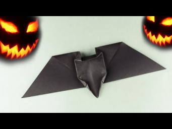 How to make a paper bat for Halloween decoration very easy. 5 minute craft Tutorial origami