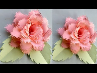 Make a paper art - paper crafts and Rose paper flowers