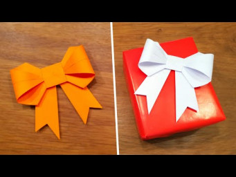 How To Make a Paper Bow/Ribbon - Easy Origami