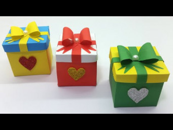 Happy New Year Gift Ideas ~ Gift Box Making Easy Tutorial ~ DIY Paper Box ~ School Crafts