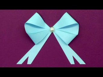 Easy Paper Bow | How To Make Bow Out Of Paper | Paper Bow For Christmas Decoration Idea | DIY Crafts