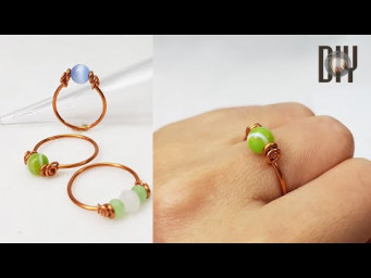 Simple Rings | spherical stone | crystal | with holes | How to do | Handmade | DIY 566