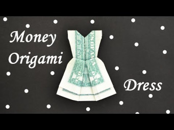 My MONEY DRESS | Easy and Beautiful Dollar Origami | Tutorial DIY by NProkuda