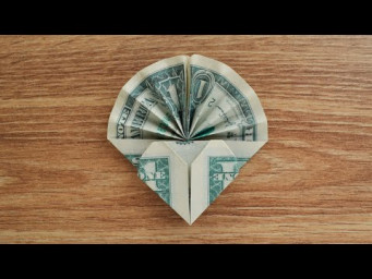 My MONEY HEART WITH FAN | Beautiful Dollar Origami | Tutorial DIY by NProkuda