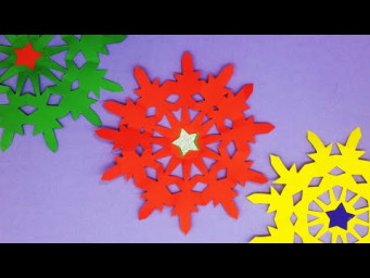 Christmas Decoration Ideas | Beautiful 3D Christmas Snowflakes | DIY Paper Snowflakes
