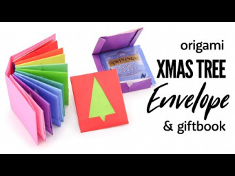Origami Christmas Tree Envelope Tutorial & Gift Book - Paper Kawaii