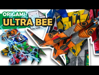 How to make an AUTOBOT ULTRA BEE Origami Transformer