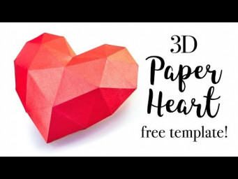 3D Paper Heart Tutorial - Valentine's Day DIY - Paper Kawaii