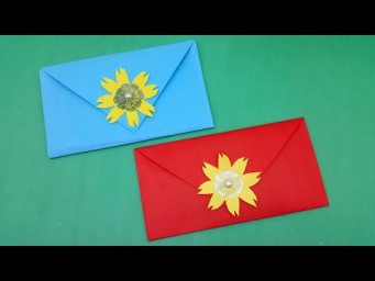 Very Easy & Simple Envelope Making With Color Paper | Origami Envelope | DIY Homemade Envelope