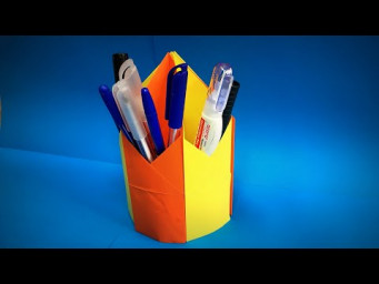 Origami Pen Holder | How to Make a Paper Pencil Holder DIY | Easy Origami ART Paper Crafts
