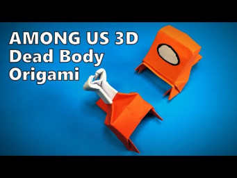Origami Dead Body AMONG US 3D | How to Make a Paper AMONG US 3D | Easy Origami ART Paper Crafts