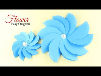 How to make a Easy Paper Flower for beginners making Step by Step