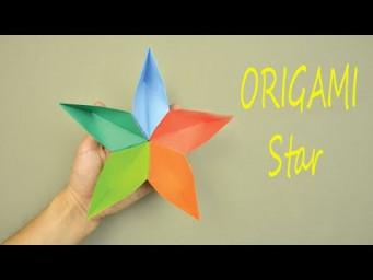 How To Make a 3D Paper Star Simple - Origami Star 3D Tutorial Easy | Creative DIY