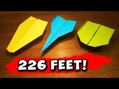 How To Make 5 EASY Paper Airplanes that FLY FAR