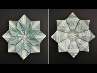My MONEY DOUBLE-SIDED FLOWER (STAR) | Modular Dollar Origami | Tutorial DIY by NProkuda
