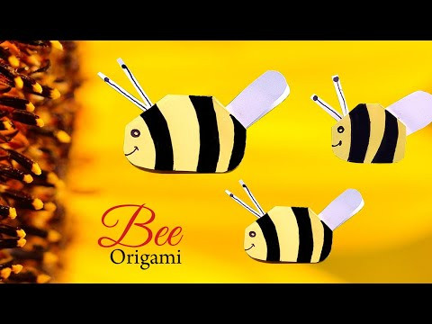 Easy Origami Fly Bee Step by Step Tutorial | Mosca Abeja Origami | Fun & Easy Origami